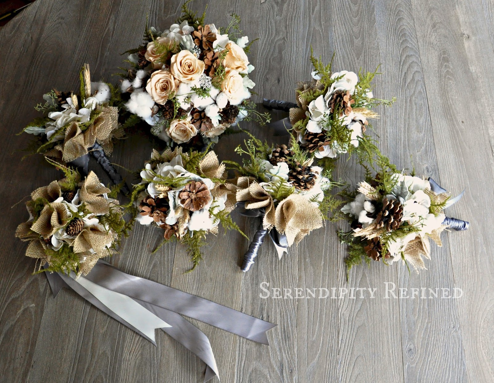 Serendipity Refined Blog Flowers For An Autumn Wedding Pinecones