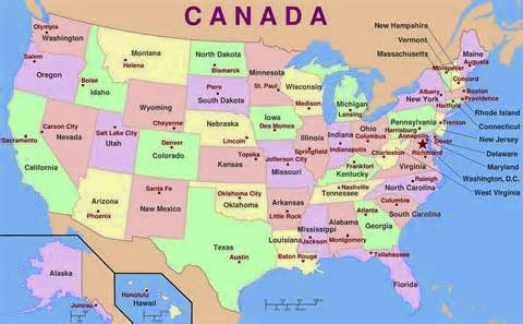 US States And Capitals Carmen Marías English Blog - Map of the us states and their capitals