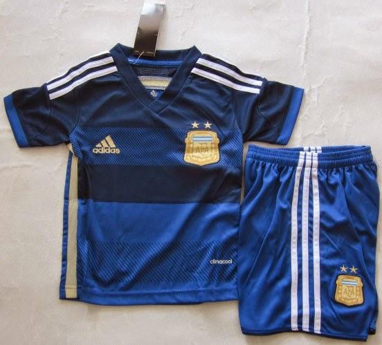 Setelan Baju Bola Anak, Modis dan Trendi - Argentina Away World Cup 2014