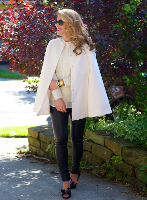 ellsworth and ivey cape with two bees cashmere sweater