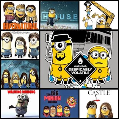 #MinionsDeSeries. Recopilación de imágenes de minions caracterizados como personajes de series televisivas