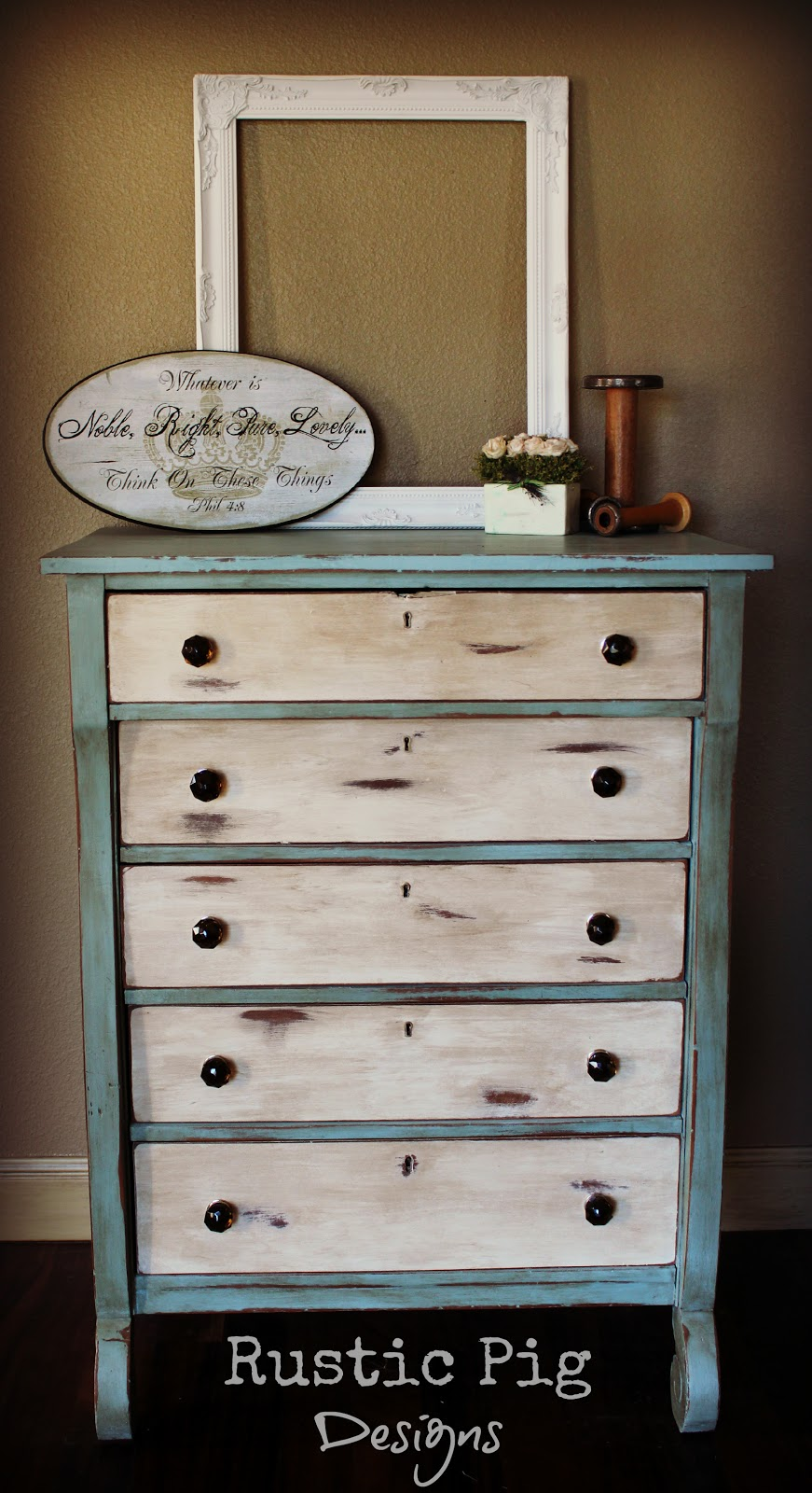 An Empire Dresser Makeover The Rustic Pig