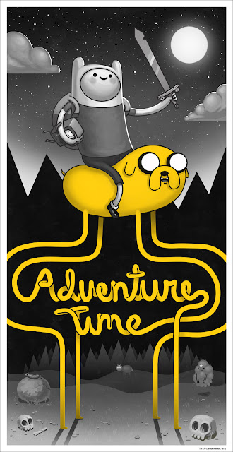 Mondo x Cartoon Network Adventure Time Standard Edition Screen Print by Mike Mitchell