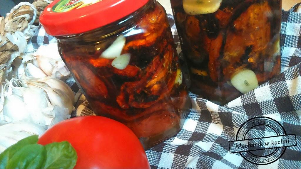Suszone pomidory w dwóch odsłonach bazylia czosnek dynia mechanik w kuchni