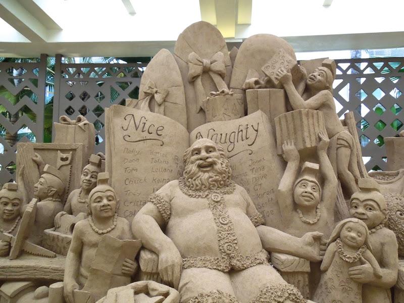 Sand Santa sculpture Sheraton Waikiki Honolulu