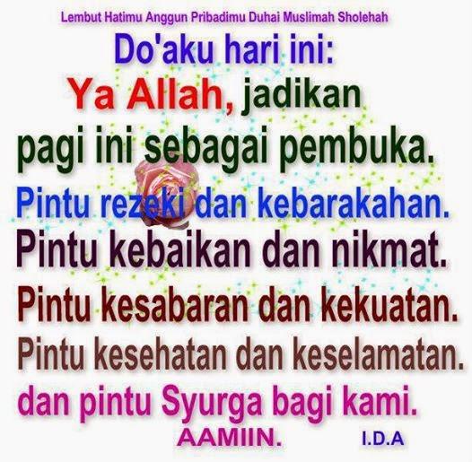Doa ku hari ini..