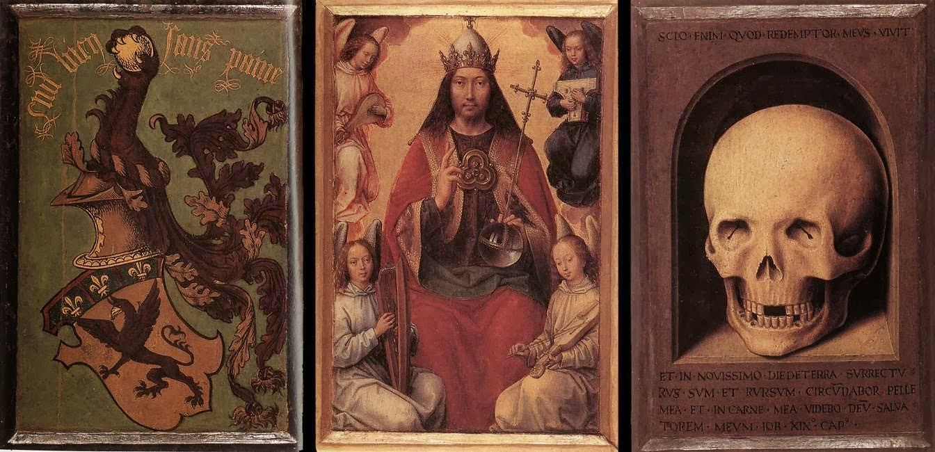 Triptych of Earthly Vanity and Divine Salvation (trasera), ca. 1490