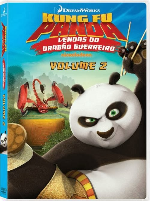 capa Download – Kung Fu Panda Lendas Do Dragão Guerreiro Vol.2 – DVDRip AVI + RMVB Dublado ( 2014 )