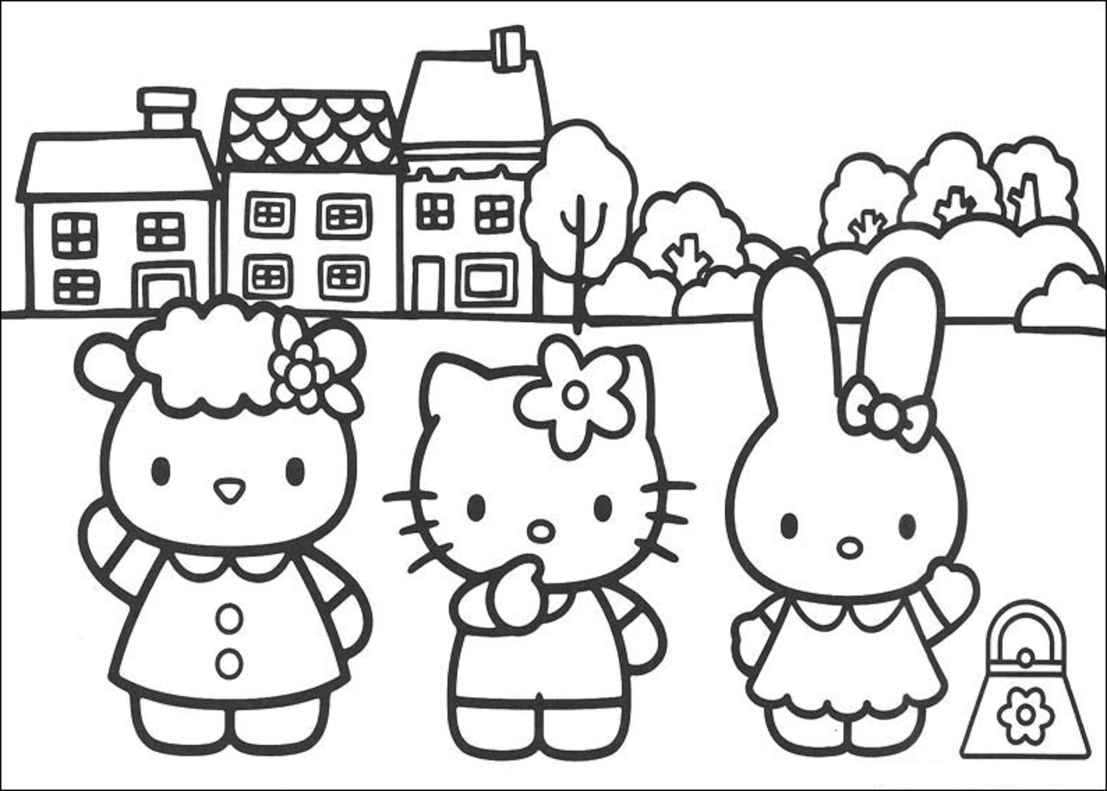 Hello Kitty Coloring Sheets Coloring Pages Coloring Sheets Hello