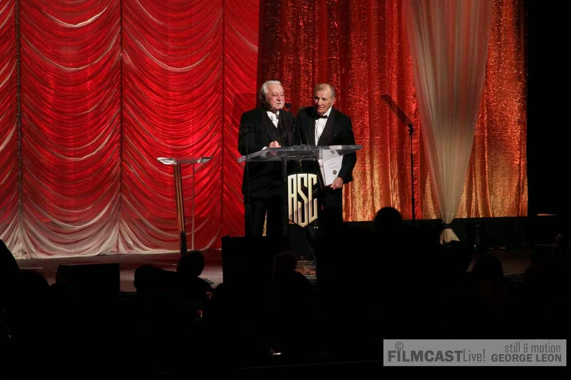 Otto Nemenz and Denny Clairmont received the ASC  Bud Stone Award ©george leon/filmcastlive