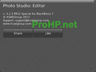Photo Studio PRO v1.2.3 for BlackBerry