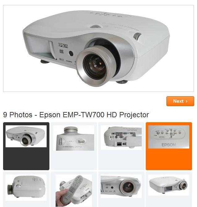 Epson EMP-TW700 HD Projector