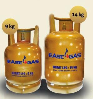 tabung kemasan Ease Gas 9 kg dan 14 kg