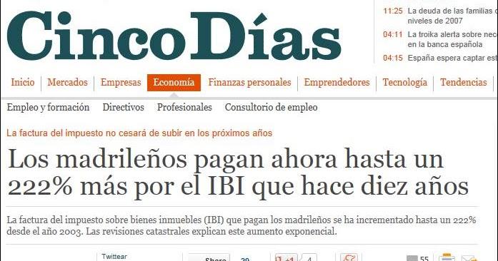 Catastreros pa ses en crisis e ibi mientras que italia suspende el cobro del nuevo impuesto - Bienes raices espana ...