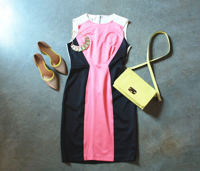 Perfect day dress london times nude pumps sole society yellow cross body bag target style