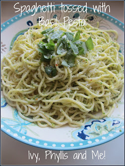 SPAGHETTI TOSSED WITH BASIL PESTO