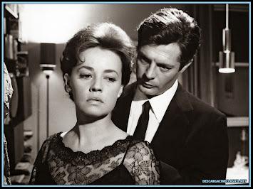 Fotografía de Marcello Mastroianni y Jeanne Moreau en La noche 1961
