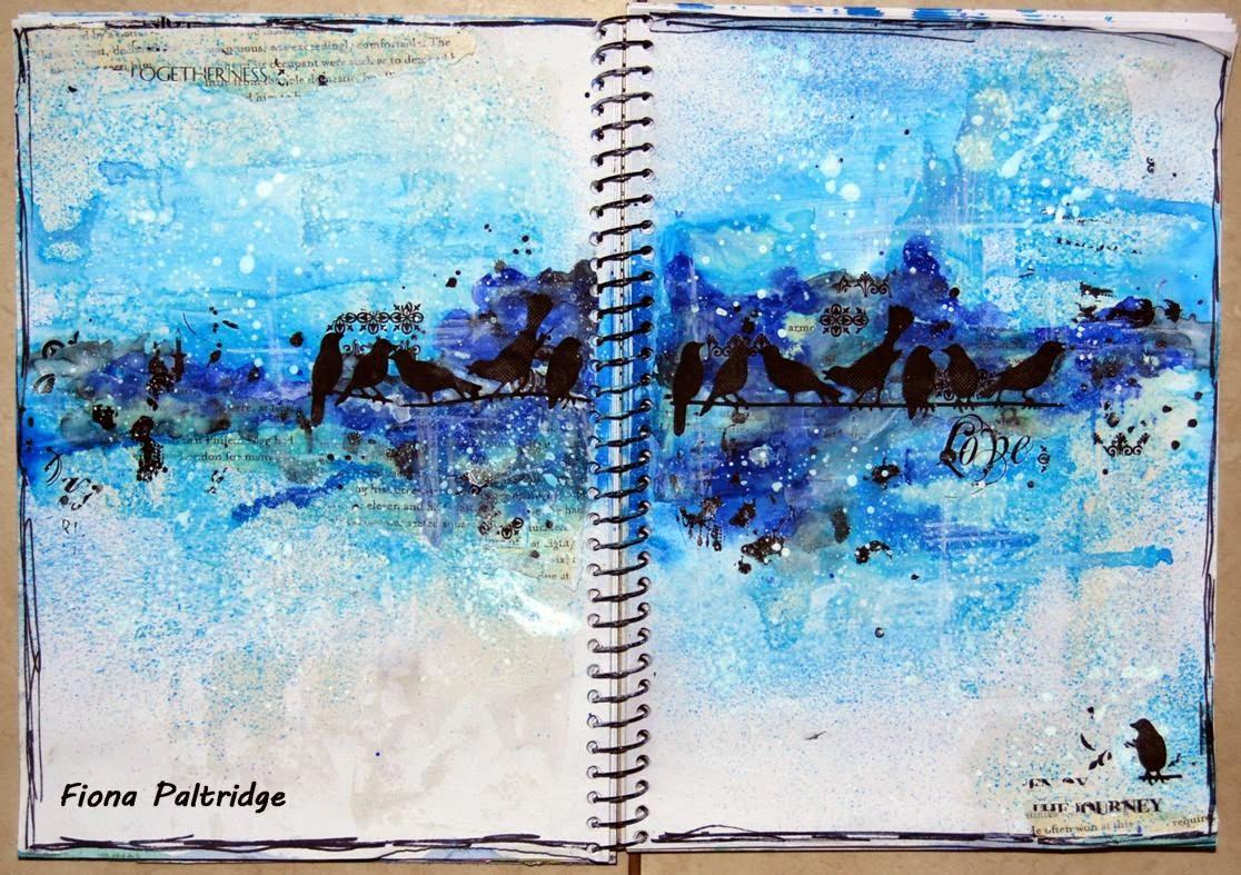 Pastiche Scrapbook Studio: Birds on a Wire Art Journal Page