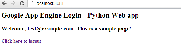 Google App Engine Python User Logout