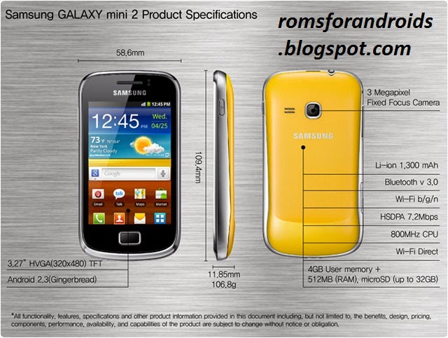 Samsung Galaxy mini 2 S6500 ROMs