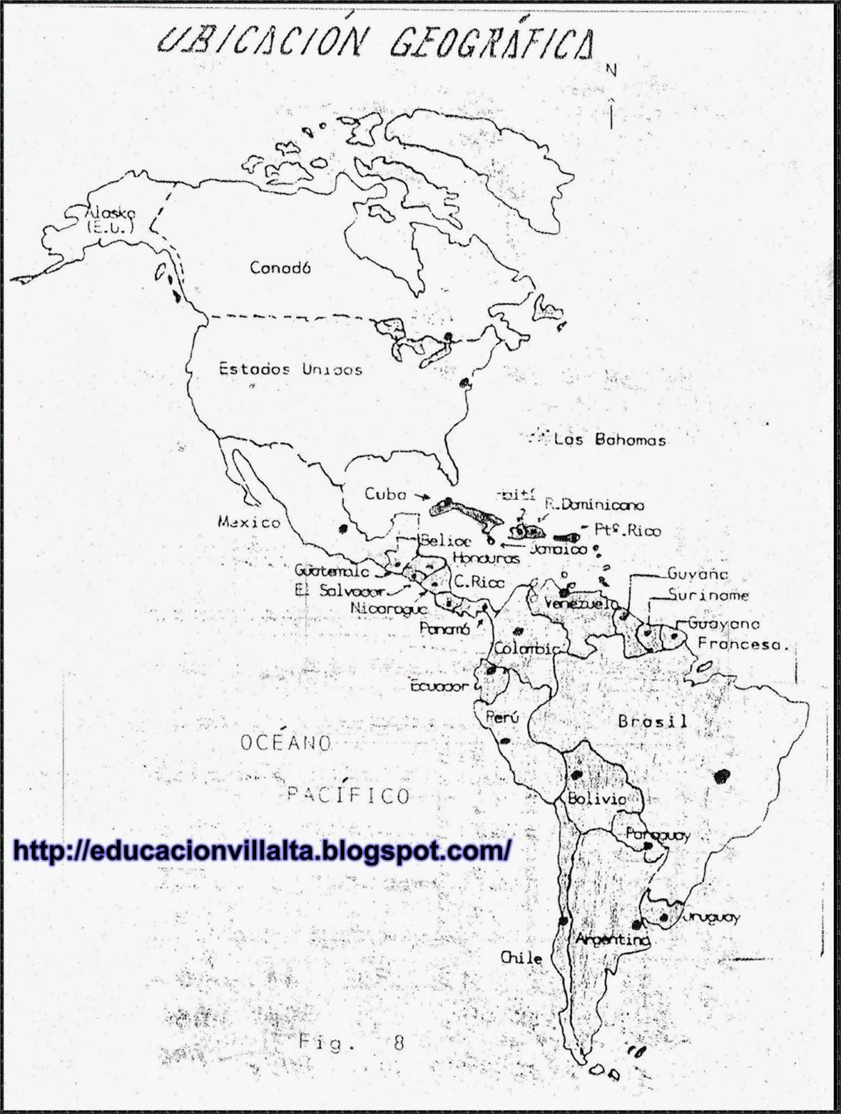 Educación: Los hemisferios. Paralelos. Meridianos. Ubicación Geográfica