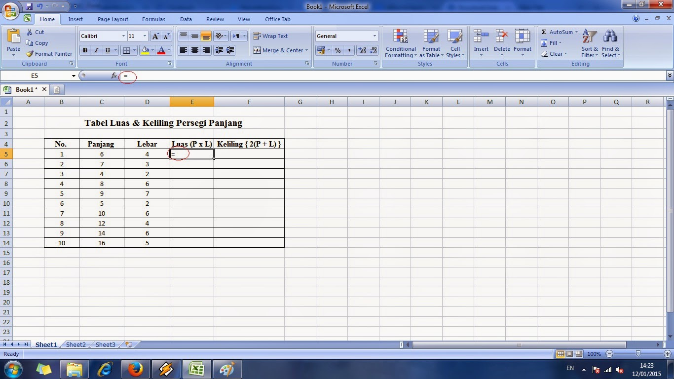 cara, membuat, tabel, rumus, microsoft, excel, tutorial