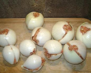 Onion bombs before cooking