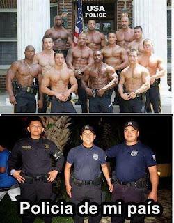 policia USA fuerte fortachones