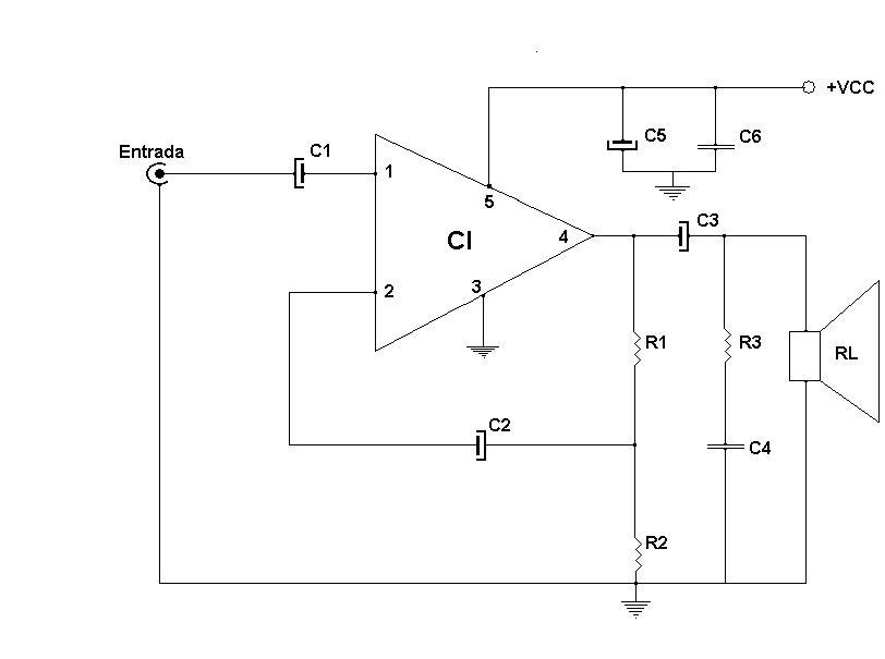 Circuito Amplificador : Amplificadores de audio amplificador con tda o