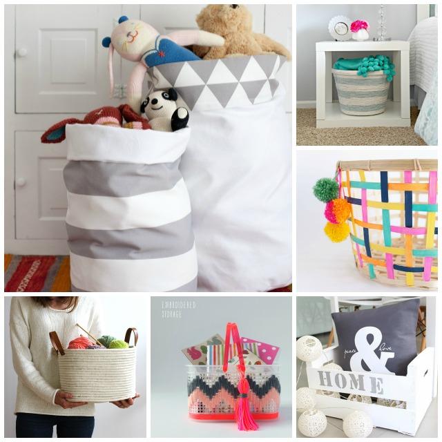 Decoración Fácil: 6 cestones handmade para organizar tu casa