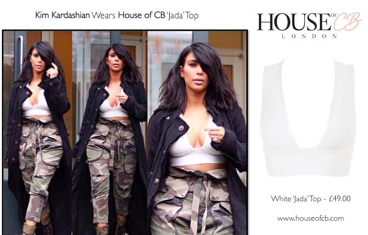 6cdca78de58 frumpy to funky  Kim Kardashian wears House of CB - Exact Match!