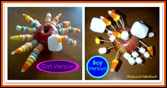 photo of: Turkey Creations from Apples and Marshmallows, Differences between the sexes via RainbowsWithinReach
