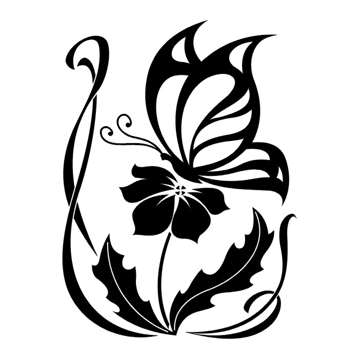 Tattoos butterfly tattoo stencils - Tribal papillon ...