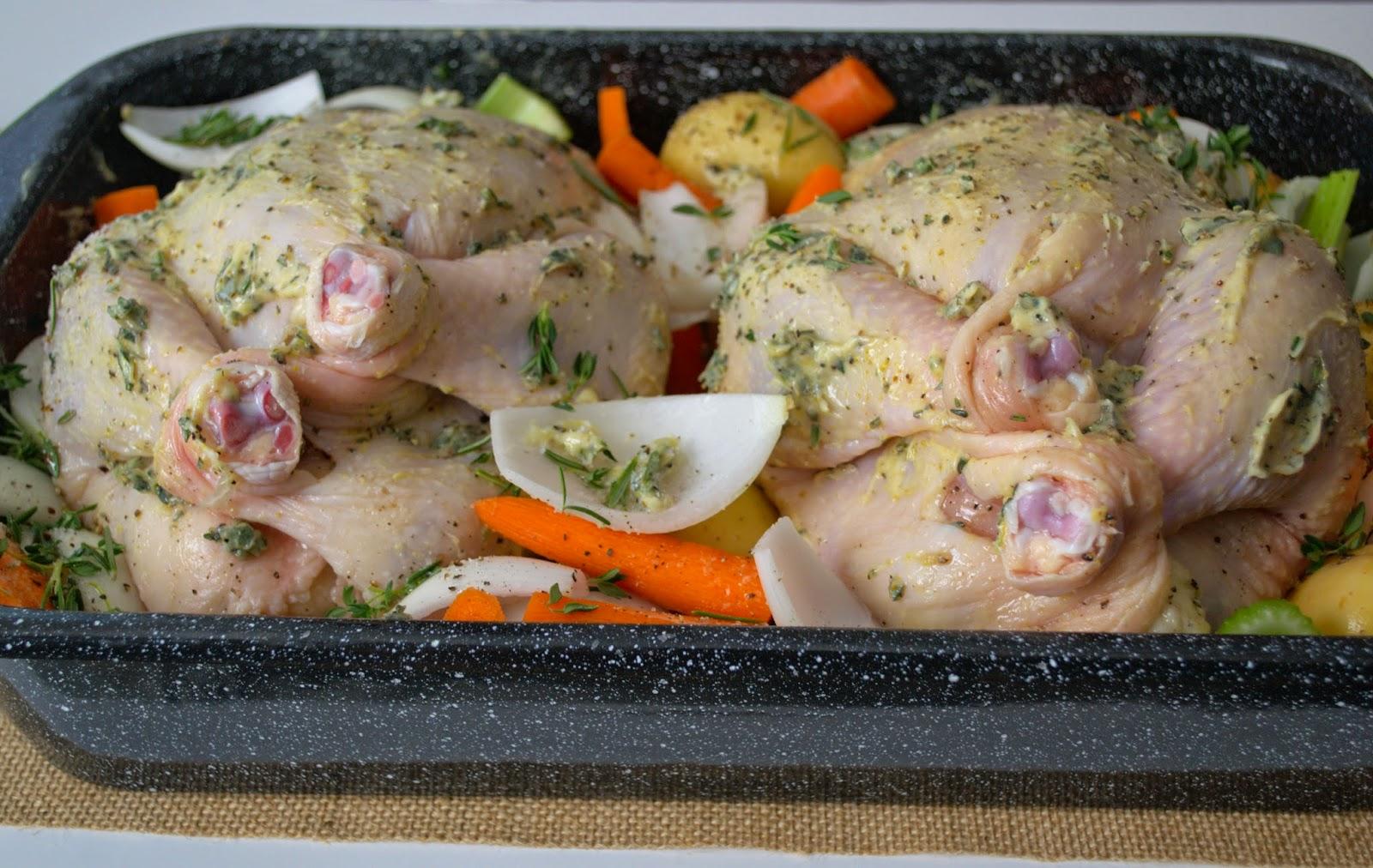 Lemon and Rosemary roasted chicken