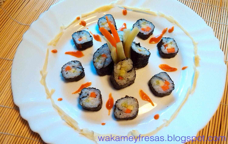 sushi hosomaki vegetal