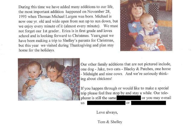 1996 Christmas Letter