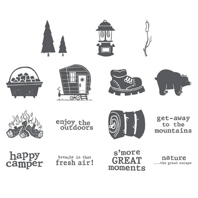 Whimsical Outdoor Themed Digital Stamp Brush Set