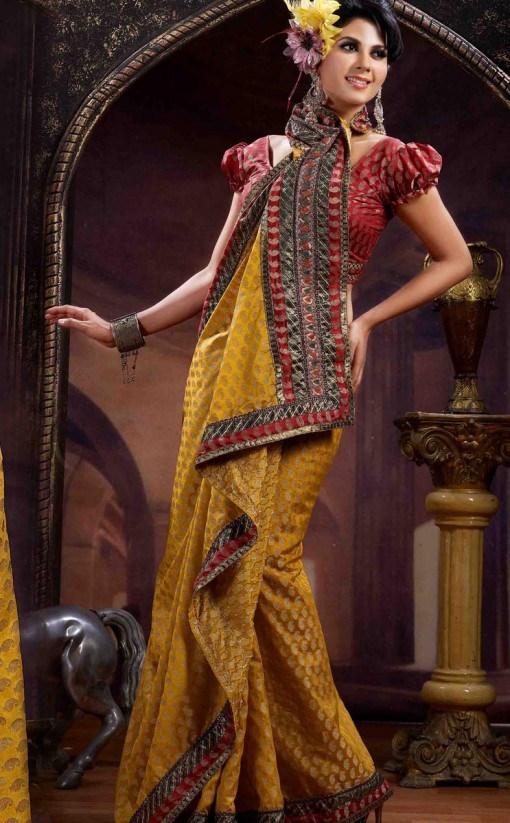 Fashion Show Latest Banarsi Silk Saree