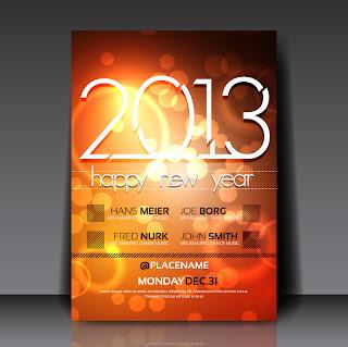 新年用フライヤー テンプレート 2013 New Year flyer templates イラスト素材4