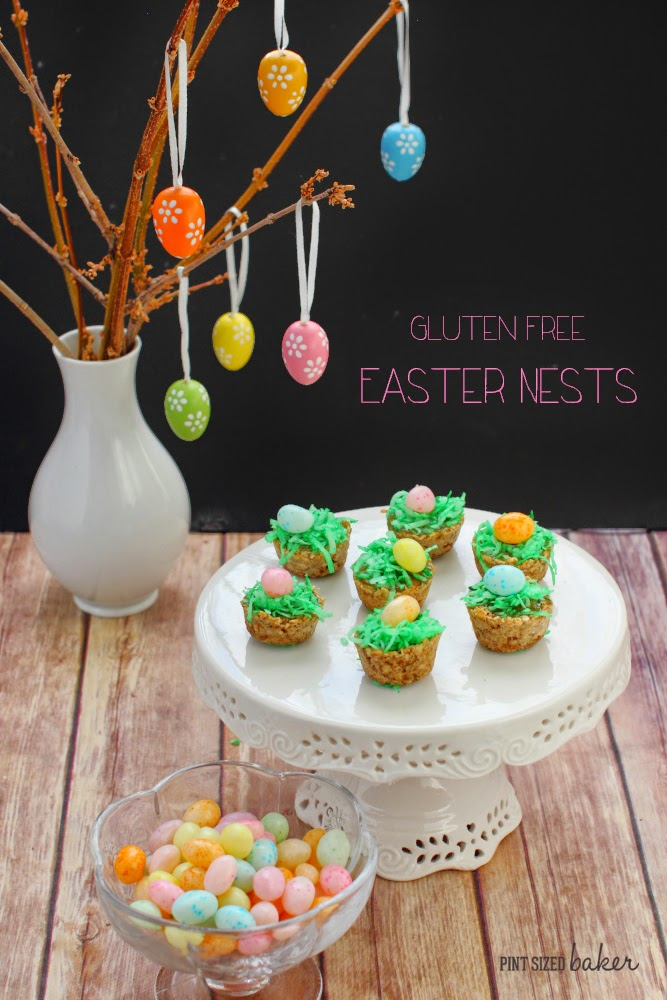 Easter Egg Nests that are Gluten Free and have just 5 ingredients. Whip 'em up quick!