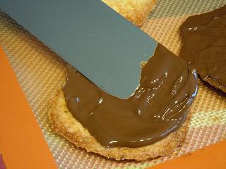Tuiles aux amandes vanille chocolat