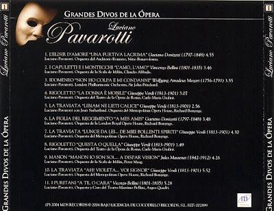 Grandes Divos de la Ópera-cd1-Luciano Pavarotti-carátula trasera
