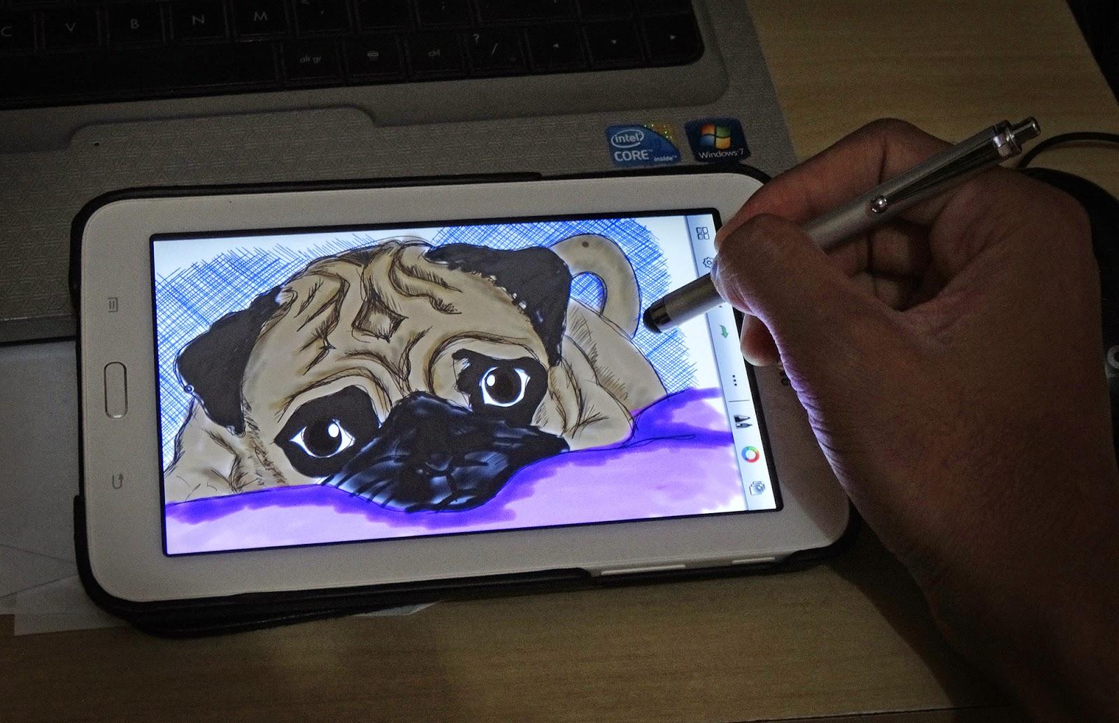 desenho, tablet, galaxy-tab-3, caneta-stylus, sketchbook-pro