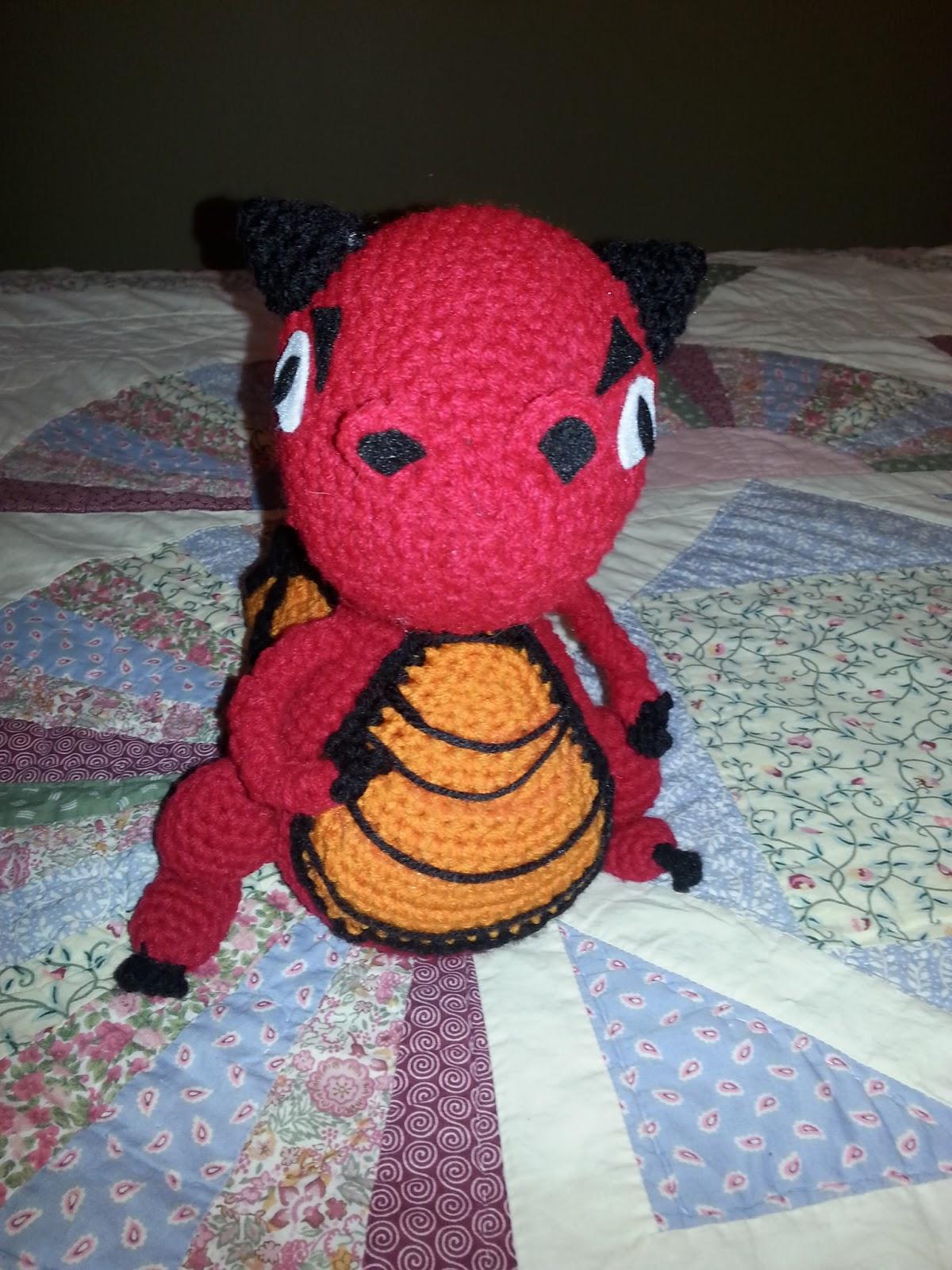 Dragon Rojo Amigurumi : MomySoso: Dragon Amigurumi