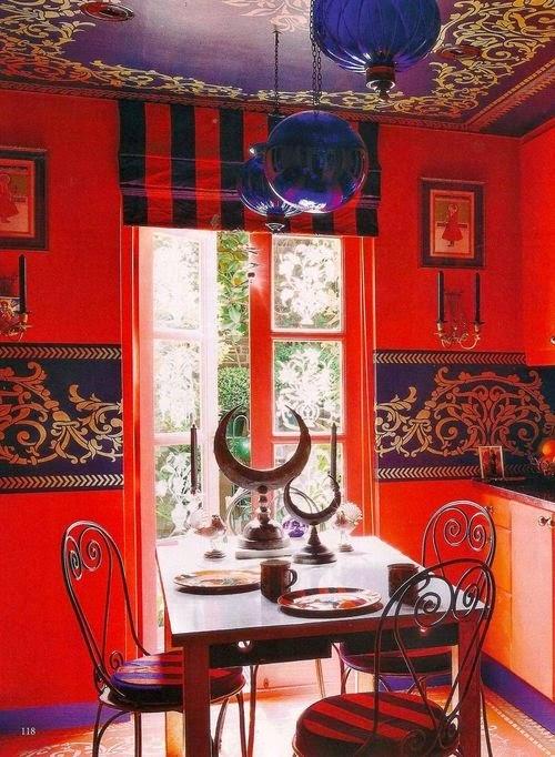 تصميمات رائعه لغرف المعيشه المغربيه  Exquisite-moroccan-dining-room-designs-25