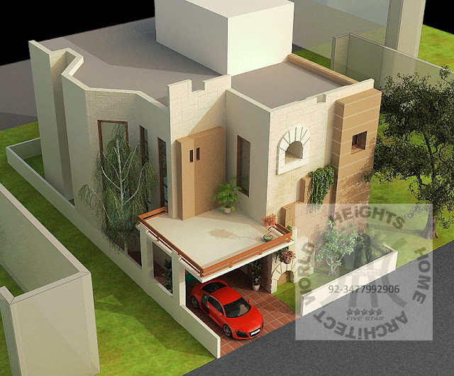 World Heights Home Architect Exterior 3d Max View 2013