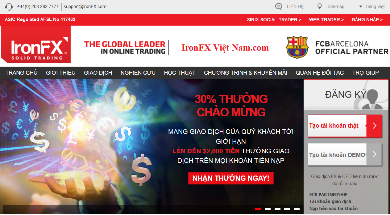 IronFX Việt Nam BONUS