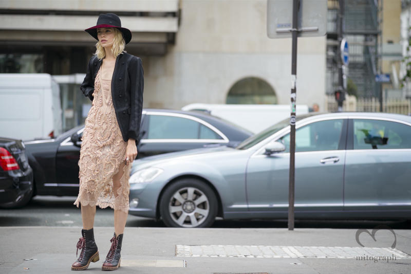 mitograph Elena Perminova After Elie Saab Paris Haute Couture Fashion Week 2014 Street Style Shimpei Mito