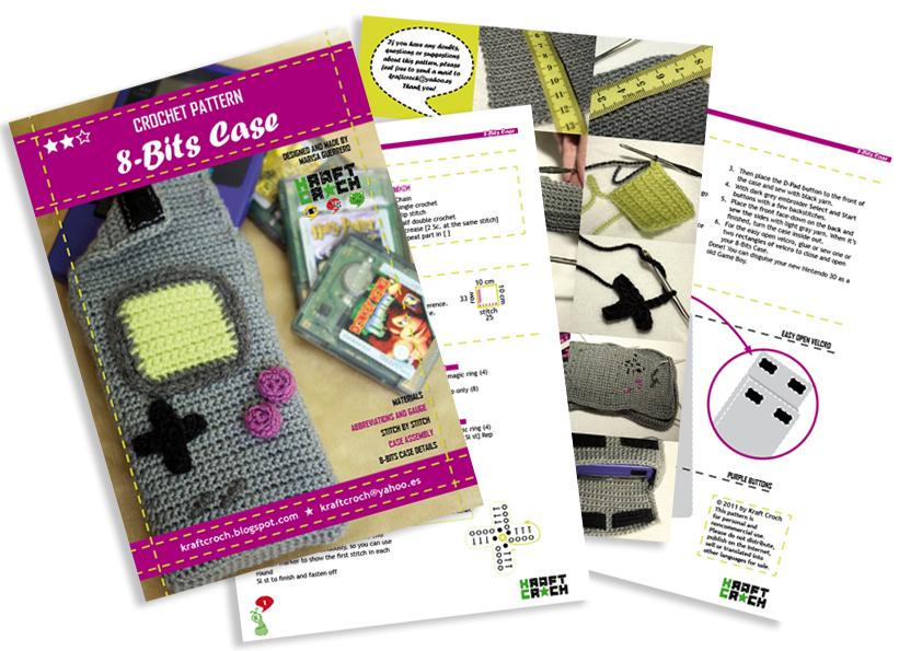 kraftcroch: ☆ crochet + geek = 8-bits case