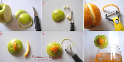 fun apple garnish